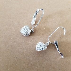 Samantha CZ Heart Earrings